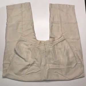 EUC Womens Cream Linen Blend Pant - Sz 12